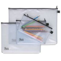 Factory price PVC mesh pencil bag