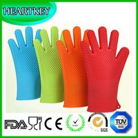 FDA Highest Rated Heat Resistant Five Fingered Grilling Oven Silicone BBQ Gloves thumbnail image