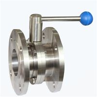 Stainless Steel Sanitary Flanged Butterfly Valve thumbnail image