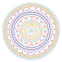 RS27 Cartoon flower roundie towel