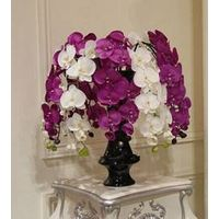 2014 SJ AF038 Wholesale artificial orchid for indoor decoration silk orchid flowers for wedding part