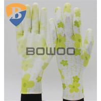 13G polyester liner PU coates safety work glove with pattern thumbnail image