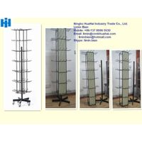 84-hook rotating floor display stand