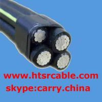 overhead aerial bundled cable