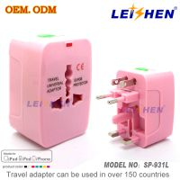 Multipurpose travel adapter for 2014 brazil world cup promotion gift from LEISHEN SP-931L
