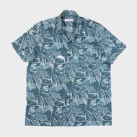 WATER PRINT SUMMER LONG SLV SHIRTS : a straight fit with good room for movement for a comfortable thumbnail image