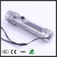Solar Charged Super Power High Light Flashlight with compass