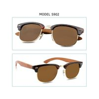 2015 New Fashion Cheap Polarized Wood Legs Sunglasses
