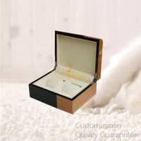 Good Quality Two Colored Wooden Watch Storage Display Gift Box 2 Slots for Couple Timepieces
