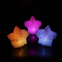 battery operated led night light star shaped