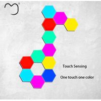DIY Quantum Lamps intelligent led night Hexagonal Wall Lamp Dimmable Touch Sensitive Lighting