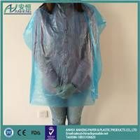 Disposable hair cutting cape with great price coloring plastic cape