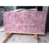 Rosa Quartz Crystal Stone Slab