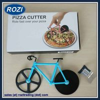 Pizza Cutter Bike Creative Kitchen Tools Utensils Cooking Knife thumbnail image