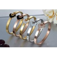 wholesale for fashion bracelet diamond heart bangle bracelet