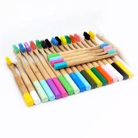 Natural Biodegradable Colorful Round Bamboo Toothbrush