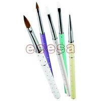 5PCS Metal Handle Kolinsky Sable Acrylic Nail Application Brush Set (EN2105) thumbnail image