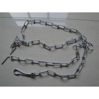 Galvanized knotted dog chain