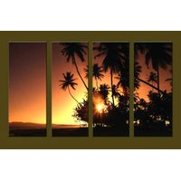 Modern Oil Paintings on canvas sunrise painting -set10132