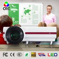 Low Cost Mini Led Projector 3500 lumens HD Video Home Theater 3D Education Presentation Projector Dr