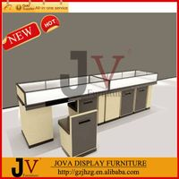 Wood veneer glass jewelry display cases for sale thumbnail image