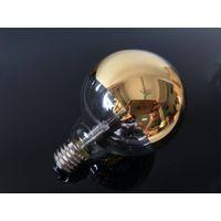 Half cover gold tint G95 6watt led filament bulb