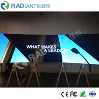 RADIANTLED creates multifaceted curved indoor P4 LED display for TV studio