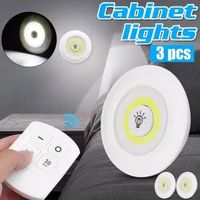 3Pcs wireless COB LED night light remote control for cabinet cupboard wardrobe thumbnail image