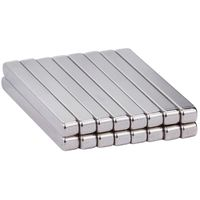 60 x 10 x 5mm N35 Neodymium Bar Magnets