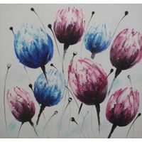 100% handmade flower oil painting