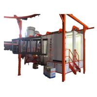 powder coating machine in powder coating line