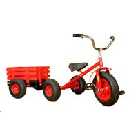 children tricycle toy with trailer thumbnail image
