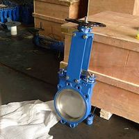 DIN Wcb Knife Gate Valve with Replaceable EPDM/PTFE/Metal Seat, V-Port