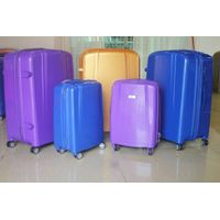 NEW PP Travel Luggage External Aluminum Trolley Zipper Suitcase Business Hard Case Carry-on Wheeled