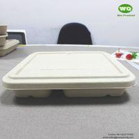4-coms natural plant fiber Square Box