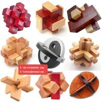 3D Wooden Intelligence Game Wood IQ Puzzle Brain Teaser thumbnail image