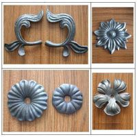 Ornamental Wrought Iron Flowers and Leaves