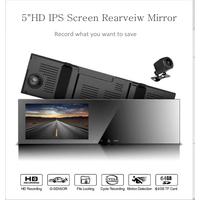 "5""IPS Screen Rearview Mirror Dual Cameras Car DVR Car DVR Parking Monitoring Mirror"