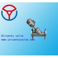 Single Acting Stainless Steel Flanged Angle Valve