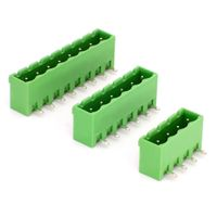 Closed End 5.08mm pitch Right Angled Pin Pcb Terminal Block Header YE030-508