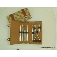 GIFTS FOR MEN Manicure Set 7 Piece Stainless Steel Nail Clippers & Grooming Kit thumbnail image