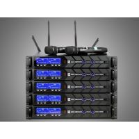 PTTAUDIO PT-123 UHF Wireless microphone large screen high-definition display, 1.5U chassis