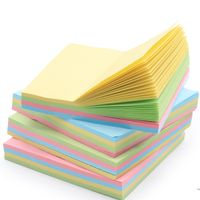 Office Stationery Rotation Shape Mixed Color 3 Inches Square Self-adhesive Writing Sticky Note