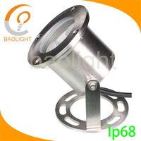 12v 3w IP68 Chinese supplier Stainless Steel LED Underwater fountain spot Light lighting for Pool