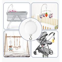 Baby Crib Mobile Music Box, Battery-Operated , With 128M TF Card ,Support Extended to 2GB