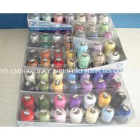 Polyester Embroidery Machine Thread 1000m Each Packed into PVC Boxes Solid Color+Variegated Color