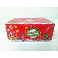 Santa Claus package multi fruit flavor soft candy Christmas hot selling products