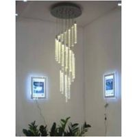 Crystal LED Column Pendant Light