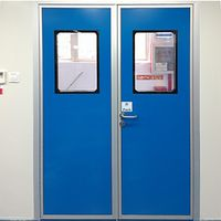 Double Color Steel Plate Cleanroom Door Used in Hospital/Pharmaceutical/Food/Electronics Workshop