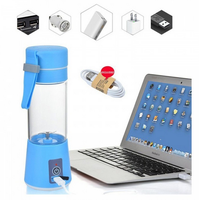 Hand Portable Electric Fruit Juice Mixer Cup Battery Automatic Milkshake Juicer Mixer Bottle